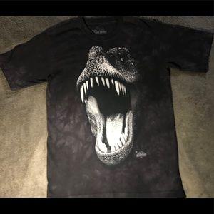 Glow In Dark Dinosaur Dyed & Printed T-Shirt